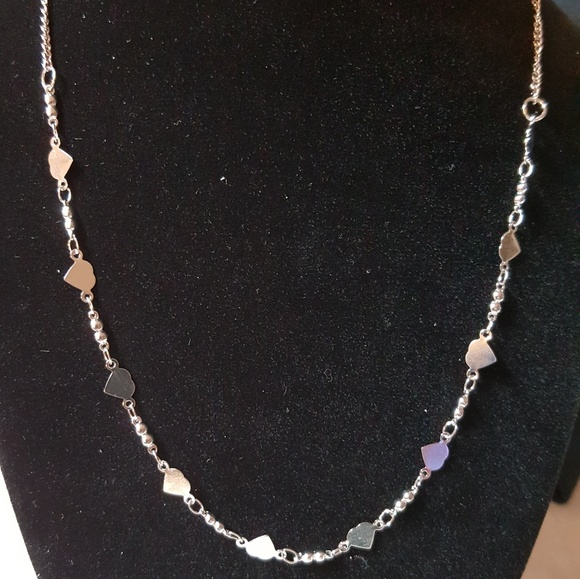 paparazzi Jewelry - Silver Necklace with Heart Beads